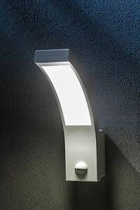 CGC White Motion Sensor PIR Security Wall Light Garden Porch Patio Home Bright