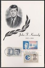 US FDC 1964 John F Kennedy Butler + Kelly Combo Glossy First Day Cover! |