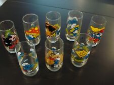 1982 Peyo Smurf Glasses Set of 8 - See Names in Description - Never Used