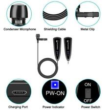 More details for 2.4g wireless lavalier microphone lapel collar clip-on mic for phone kimafun