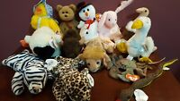 TY Beanie Baby Babies Lot of 13 W/ Tags in Excellent Condition Classics