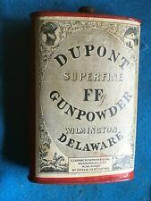 Vintage Dupont Superfine Ff Gunpowder Empty Powder Can Antique No. July 29, 1924
