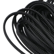 6mm Sleeving Nylon Wire Self Closing Cable Sock Wrap Braided Cabling 30m Black