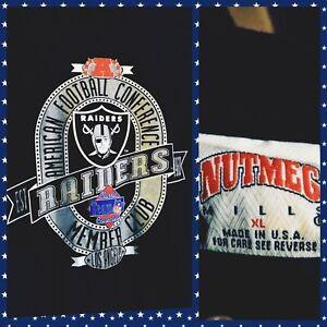 NEW 1991 NUTMEG Team NFL Los Angeles Raiders Members Club Shirt Hip Hop NWA L/XL