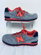 New Balance NB 574 Boys Pointure Garcons KL574G5G Grey Red Sneakers Size 6