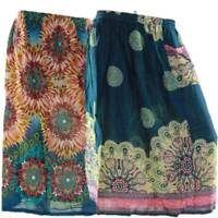 Skirt Casual Plus Size 18 Multi Coloured Bright Summer Rayon Cool Beach Sun