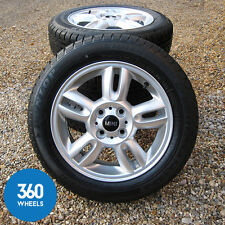 "NEW GENUINE MINI ONE COOPER 15"" R118 5 STAR TWIN SPOKE ALLOY WHEELS WINTER TYRES"