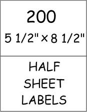 200 HALF SHEET STICKY! LABELS FOR PAYPAL USPS SHIPPING