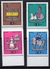 Germany Berlin 1969 Welfare: Tin Toys Mi. 348-51, Scott 9NB 65-68 superb MNH