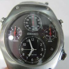 SEIKO JAPAN MEN'S WATCH KINETIC ALL STAINLESS S RUBBER SPORTS ORIGINAL SLQ003J9