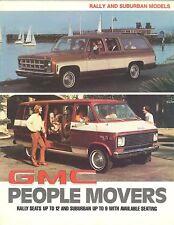 1977 GMC Suburban /& Rally People Mover Brochure Mint!