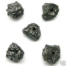 5+ Carats Loose BLACK Treasures Raw Rough Diamond Beads