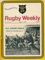 NEW ZEALAND RUGBY JUNIORS TRIAL PROGRAMME 21 Aug 1969 at Athletic Park