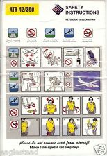 Safety Card - Kal Star Aviation - ATR 42 300 - Kalstar (Indonesia) (S3097)