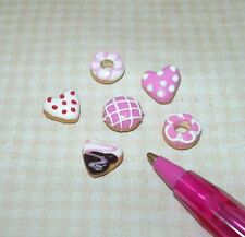 Miniature Pretty Valentine's Day Doughnuts Donuts (6) DOLLHOUSE Miniatures 1:12
