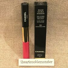 CHANEL ROUGE DOUBLE INTENSITE Duo Lip Colour Gloss BNIB #59 SHOCKING PINK