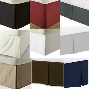 """13"""" Drop Length Bed Skirt 1000 Thread Count Egyptian Cotton All Sizes & Colors"""