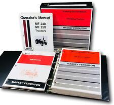 Massey Ferguson 240 Tractor Service Parts Operators Manual Shop Book Set Tech Mf
