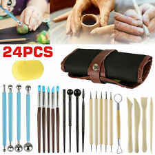 FineGood Clay Modelling Tools Set Clay Rolling Pin with Scraper Pottery Kits for Kids 3 PCS Polymer Clay Roller with Acrylic Sheet