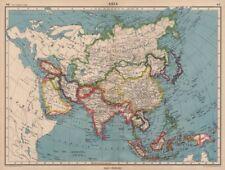ASIA POLITICAL. Shows Japanese occupied Manchuria, Caroline & Marianas 1944 map