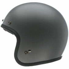 Bell Custom 500 Matt Primer Grey Retro Cafe Racer Open Face Motorcycle Helmet
