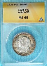 1921 MS-65 Alabama Centennial Early Commemorative Silver Half Only 49,038 Minted