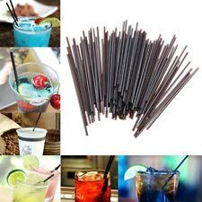 100Pcs Black Plastic Mini Cocktail Straws For Celebration Drink Party Supplies