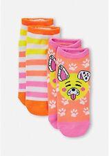 Justice Girls 2 Pack Puppy Emoji Socks Size Medium Large NWT