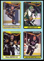 1990 OPC O PEE CHEE Wayne gretzky Paul Coffey EX+ BOX BOTTOM 4 CARD UNCUT PANEL
