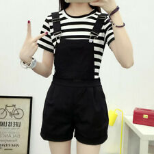 Fashion Korean Women Sleeveless Summer Playsuits Jumpsuits Solid Rompers`Over lx