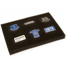 More details for everton fc 6 piece badge set club enamel crest pin football club new gift xmas