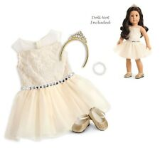 "American Girl TM Celebration Dress for 18"" Dolls *TIARA BROKEN* Christmas NEW"