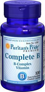 Puritans Pride Complete B Vitamin B Complex 100 Caplets