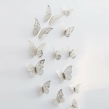 12PCS 3D Butterfly Wall Stickers Fridge Magnet Wall or Window Butterflies Hot