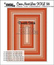 Crealies Double Stitch Die Set No.36 Rectangle coupe meurt XXL36