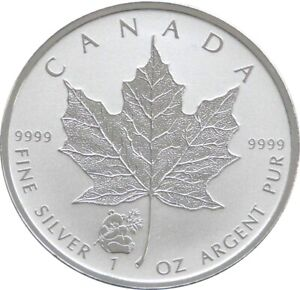 2016 Canada Panda Privy Maple Leaf $5 Five Dollar Silver Reverse Proof 1oz Coin