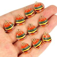Kawaii Hamburgers Charms Pendants DIY Bracelets Necklace Earring Jewelry Making