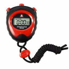 Stopwatch LCD Digital Chronograph Running Sports Timer Counter Clock Red