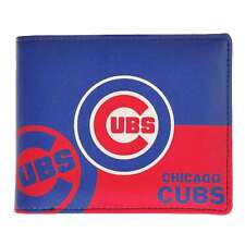 Chicago Cubs Mens Leather Bi-fold Wallet Colorful MLB Baseball Licensed Product