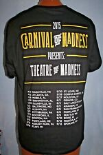 CARNIVAL OF MADNESS 2015 Concert Tour T-SHIRT L Halestorm HEAVY METAL Rare