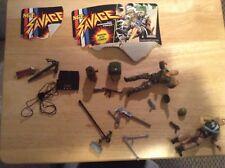 "2 GI Joe 5"" Sgt Savage action figures 1995 Hasbro  Screaming Eagles many weapons"