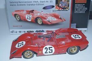 1/18 CMC Ferrari 312P Spyder #25 Mario ANDRETTI Signatur Ed. CMC M-123 #004/325