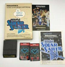 Tron Solar Sailer Mattel Intellivision 1982 CIB Complete Video Game Intellivoice