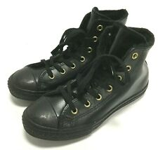 10020e0f253022 Converse Junior Youth All Star CT Winter High Top Boots Shoes 653365C Black
