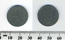 Belgium 1942 - 1 Franc  Zinc Coin - WWII - German Occupation - Dutch Legend - #2