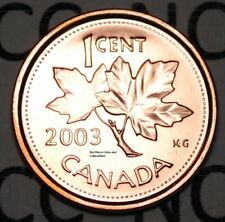 2003 P New Effigy 1 Cent Canada Steel Nice Uncirculated Canadian Penny Magnetic