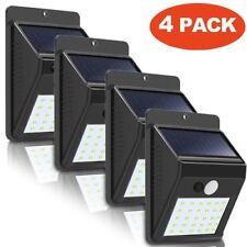 4 X 30 LED Solar Power Motion Sensor Wall Light Outdoor Garden Lamp Waterproof B