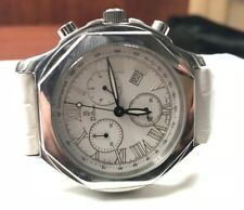DiBur Chronograph White Leather Band Unisex Watch
