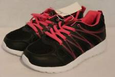NEW Girls Tennis Shoes Size 11 Black Pink Lace Up Sneakers Athletic School Gym
