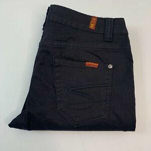 7 For All Mankind Black Slim Leg Skinny Jeans Size 32